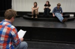 Director Chris Morris gives his students some notes